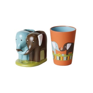 Saturday Knight Elephant 2-piece Bath Accessory Set