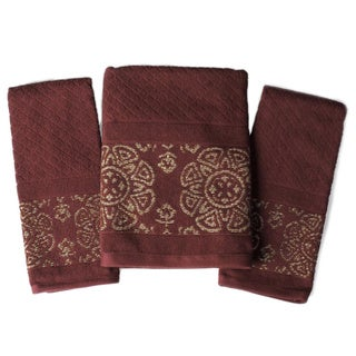 Saturday Knight Basma Embellished 3-piece Towel Set