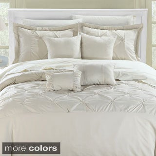 Valmont Pleated Contemporary 8-piece Comforter Set