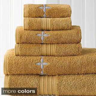 Valerie Embroidered Egyptian Cotton 6-piece Towel Set