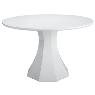 Sunpan Sanara White Round Small Dining Table