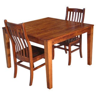 Christopher Knight Home Square Solid Maple Wood Cherry Table and 2-piece Side Chair Set