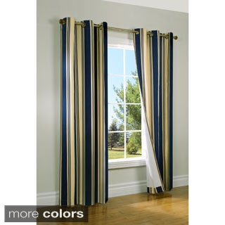 Broadstripe Insulated Grommet Top Curtain Panel Pair