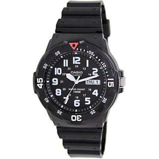 Casio Men's Core MRW200H-1BV Black Resin Analog Quartz Watch with Black Dial