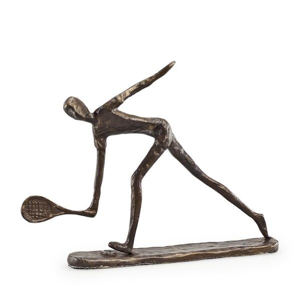 Male Tennis Player Bronze Sculpture