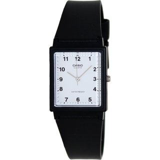 Casio Men's Core MQ27-7B Black Resin Quartz Watch with White Dial