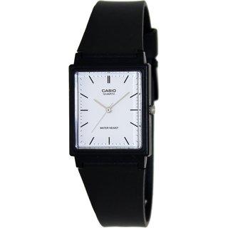 Casio Men's Core MQ27-7E Black Plastic Quartz Watch with White Dial