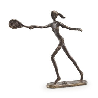 Famale Tennis Player Bronze Sculpture