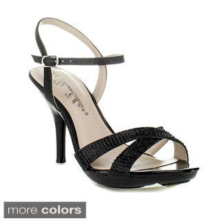 Blossom Women's 'Lin-129' Criss-cross Ankle Strap Heels