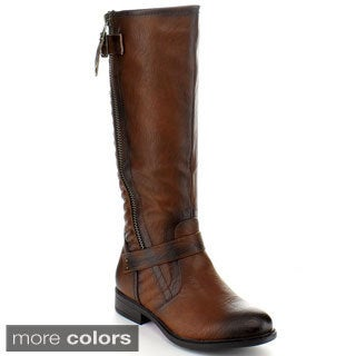 Blossom Women's 'Pita-26' Buckle-strap Knee-high Riding Boots