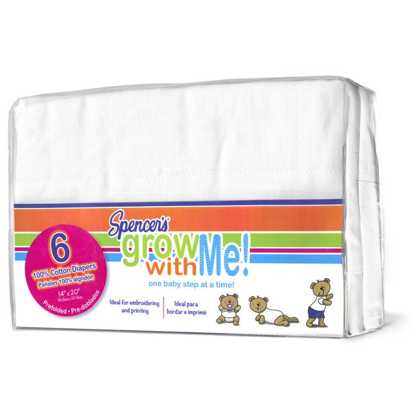 Spencer's Grow with Me Cloth Diapers (Pack of 6)