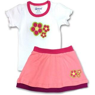Spencer's Girls' Flower Tee and Skirt Set