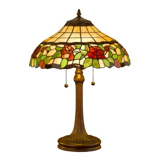 Amora Lighting Tiffany Style Floral Design 23-inch Table Lamp