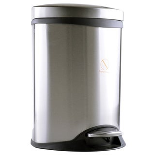 6-liter Stainless Steel Step Wastebasket