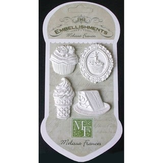 Resin Embellishments 4/Pkg-Sweet Life Sweet Treats 1.625inX1.375in