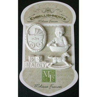 Resin Embellishments 4/Pkg-Rock-A-Bye Baby 1.625inX1.25in