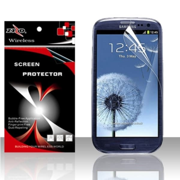 INSTEN Clear Anti-glare Mirror Privacy Screen Protector for Samsung Galaxy S3