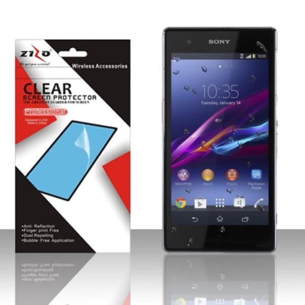 INSTEN Clear Regular Scratch Free Screen Protector Film for Sony Xperia Z1 C6902