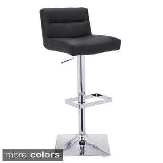 Sunpan Stafford Faux Leather Adjustable Bar Stool