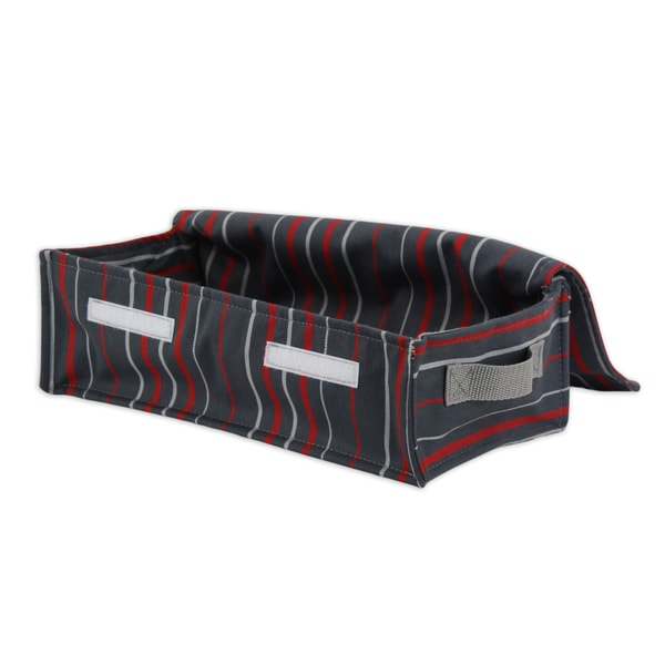 Multi-stripe Charcoal Soft Sided Storage Container