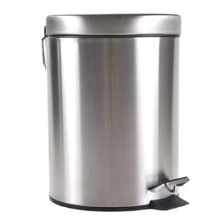 Round Stainless Steel Step Wastebasket