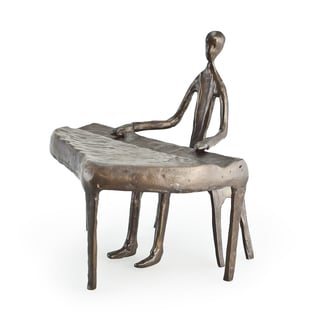 Piano Player Bronze Sculpture