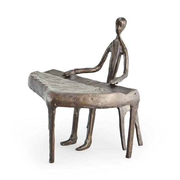 Piano Player Bronze Sculpture