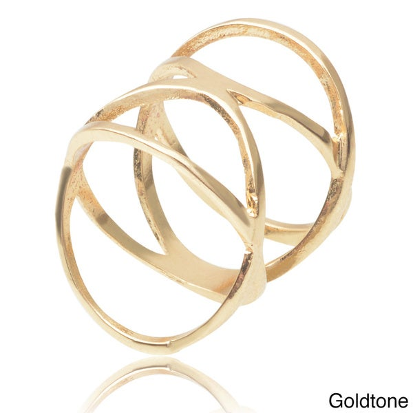 Journee Collection Brass Midi Knuckle Ring