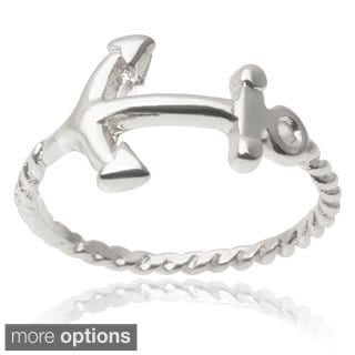Journee Collection Brass Anchor Knuckle Ring