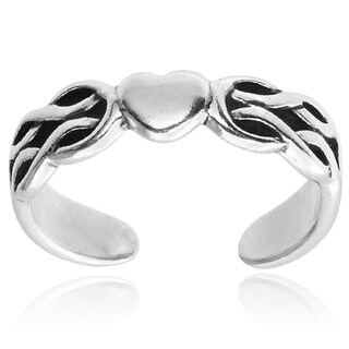 Tressa Collection Sterling Silver Heart Adjustable Toe Ring