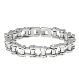 Vance Co. Men's Stainless Steel Bicycle Chain Bracelet
