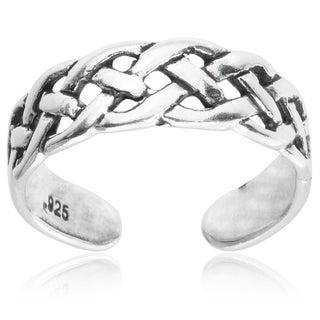 Tressa Collection Sterling Silver Celtic Knot Adjustable Toe Ring