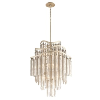 Corbett Lighting Chimera 10-light Silver Pendant Entry
