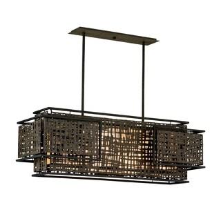 Corbett Lighting Shoji 4-light Bronze Pendant Island