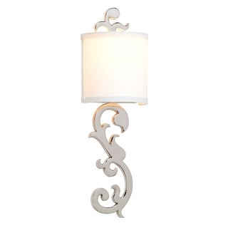 Romeo 1-light Nickel Wall Sconce