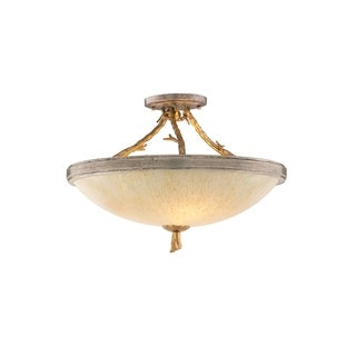 Corbett Lighting Parc Royale 3-light Gold Semi-Flush