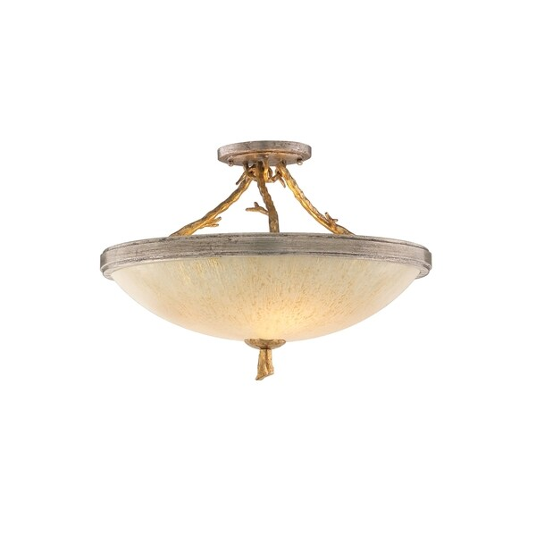 Corbett Lighting Parc Royale 3-light Gold Semi-Flush