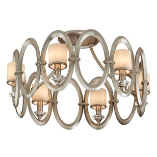Corbett Lighting Embrace 6-light Silver Semi-Flush