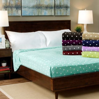 Expressions Printed Dot Plush All Season Blanket