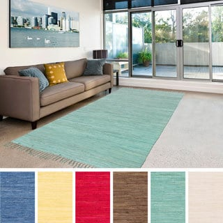 Hand-Woven Eli Solid Cotton Rug (2' x 3')