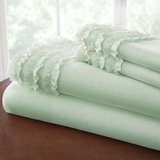 Ruffled Hem Sheet Set
