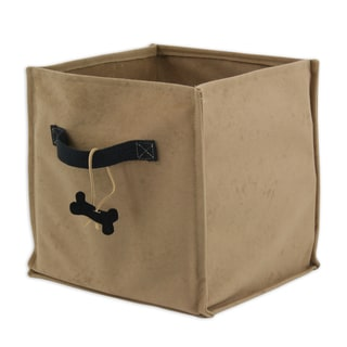 Tan Doggie Soft Sided Storage Container