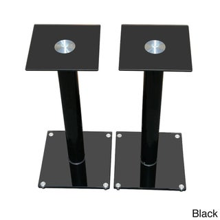 Mount It Premium Aluminum and Glass Speaker Stands
