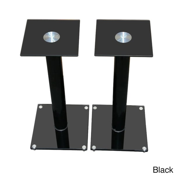 Mount-It! Premium Aluminum and Glass Speaker Stands for Home Theater Satellite Speakers and for Bookshelf Speakers