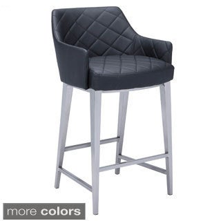 Sunpan Chase Faux Leather Counter Stool