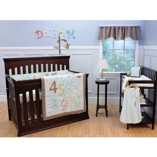 Nurture Imagination Count Off 4-piece Crib Bedding Set