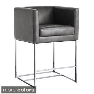Sunpan Agency Grey Nobility Counter Stool