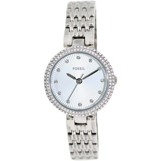 Fossil Women's Olive ES3345 Silvertone Stainless Steel Quartz Watch with Silvertone Dial