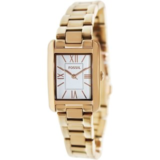 Fossil Women's Florence ES3326 Rose-Goldtone Stainless Steel Quartz Watch with White Dial