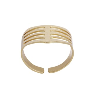 NEXTE Jewelry Goldtone Vented Finger Tip Band
